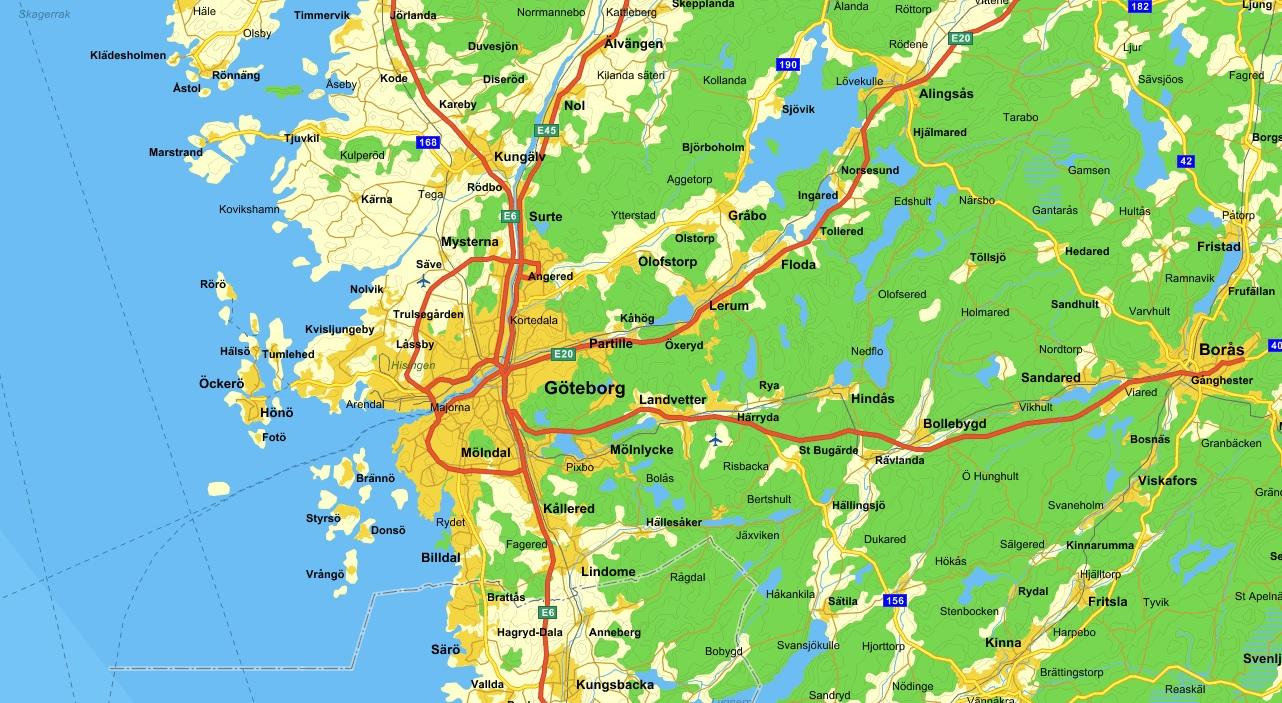 betalstationer göteborg karta motorväg | Korpnästet betalstationer göteborg karta